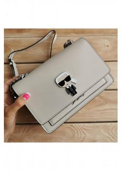 Брендовая кожаная сумка 22x16 см - White