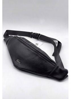 Мужская чёрная сумка на пояс