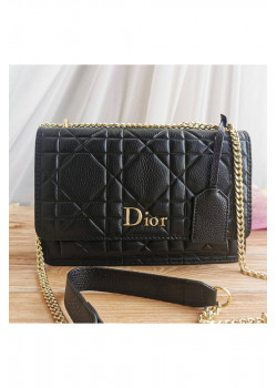 Кожаная сумка 25x17 см - Black