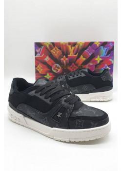 Мужские брендовые кроссовки чёрного цвета