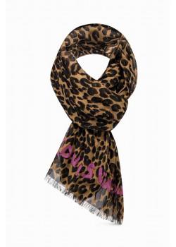 Брендовый женский шарф 130x120 см
