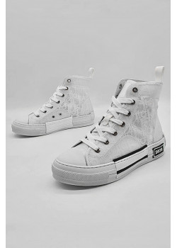"""Женские высокие кроссовки """"Walk'N'Dior"""" - White"""