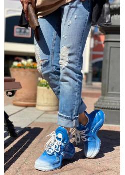 Брендовые кожаные кроссовки Archlight - Blue