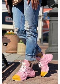 Брендовые кожаные кроссовки Archlight - Pink / Yellow