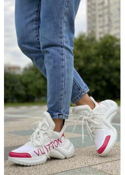 Брендовые кожаные кроссовки Archlight - White / Pink