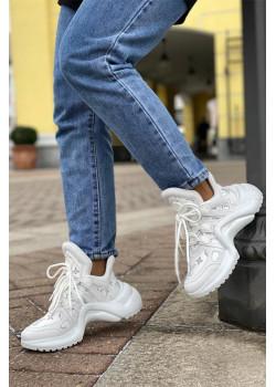 Брендовые кожаные кроссовки Archlight - White