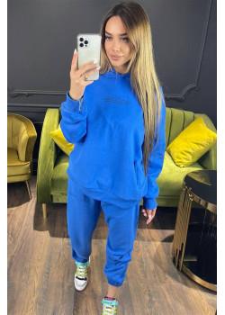 Женский брендовый костюм синего цвета