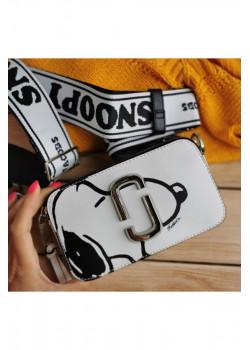 "Кожаная сумка Peanuts ""Snoopy"" 19x11 см"