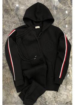 Мужской брендовый костюм чёрного цвета