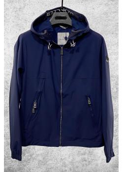Мужская брендовая ветровка тёмно-синего цвета