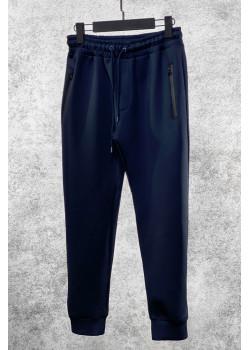 Мужские брендовые штаны тёмно-синего цвета
