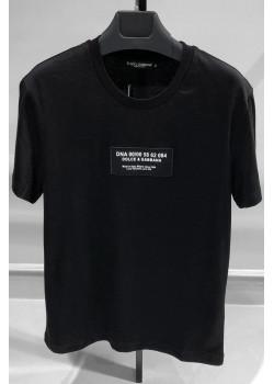 Чёрная оверсайз футболка