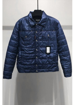 Классическая мужская куртка синего цвета