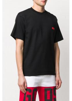 Мужская оверсайз футболка GCDS чёрного цвета