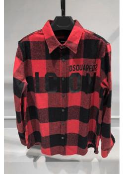 """Мужская клетчатая рубашка """"ICON"""" - Red / Black"""