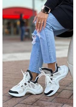 Брендовые кожаные кроссовки Archlight - White / Black