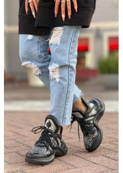 Брендовые кожаные кроссовки Archlight - Black