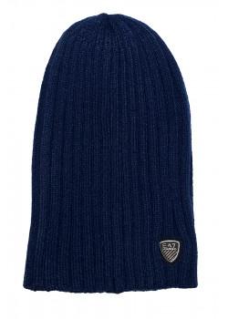 Мужская тёмно-синяя шапка