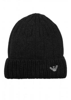 Мужская чёрная шапка