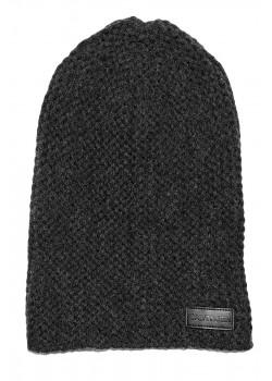 Мужская брендовая шапка серого цвета