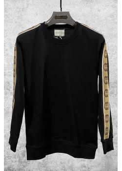 Брендовый мужской свитшот чёрного цвета