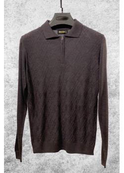 Классическая мужская кофта коричневого цвета