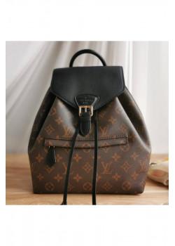 Брендовый кожаный рюкзак 27x25 см - Brown