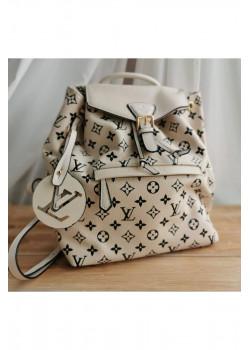 Брендовый кожаный рюкзак 27x33x14 см - White