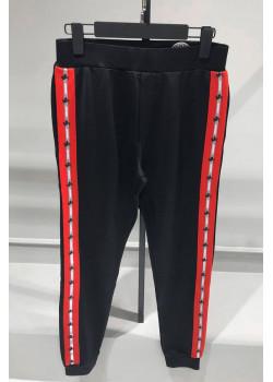 Мужские штаны Logo Side Panel Track - Black