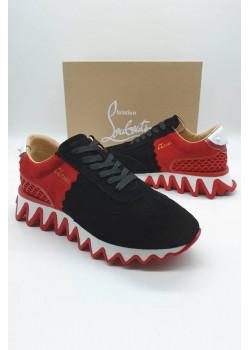 Мужские кроссовки Christian Louboutin - Black / Red