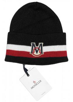 Мужская брендовая шапка чёрного цвета