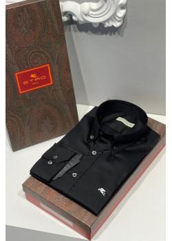 Мужская классическая рубашка чёрного цвета