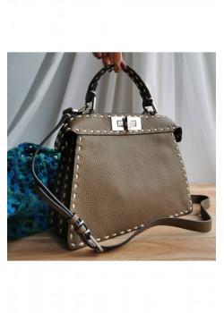 Кожаная сумка Fendi 27x21 см (2 расцветки)
