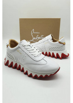 Мужские кроссовки Christian Louboutin - White / Red