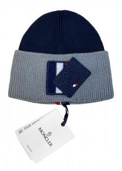 Брендовая шапка - Navy / Grey