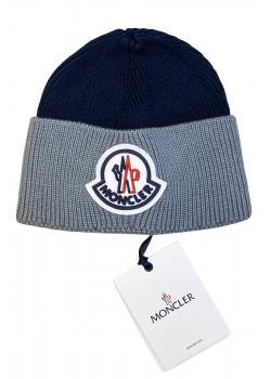 Брендовая шапка с логотипом - Navy / Grey