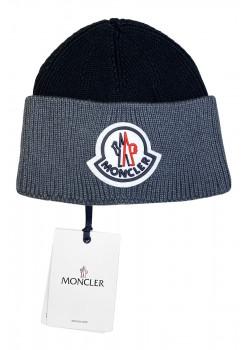 Брендовая шапка с логотипом - Black / Grey