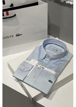 Мужская классическая рубашка голубого цвета