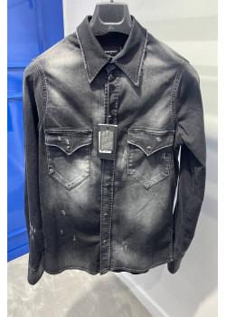 """Мужская джинсовая рубашка """"ICON"""" - Grey"""