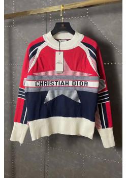 "Женский свитер ""Alps"" - White / Red / Navy"