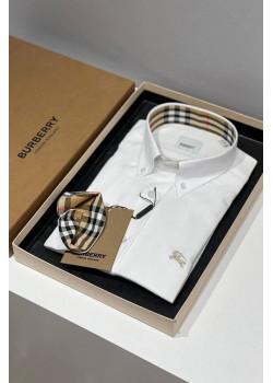 Классическая мужская рубашка белого цвета