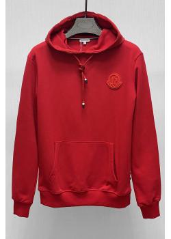 Мужское брендовое худи красного цвета