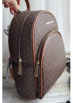Кожаный коричневый рюкзак 29x25 см