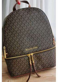 Кожаный коричневый рюкзак 32x27 см