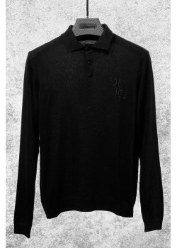 Классическая мужская кофта чёрного цвета