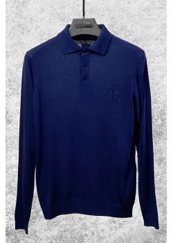 Классическая мужская кофта синего цвета