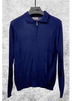 Классическая мужская кофта тёмно-синего цвета