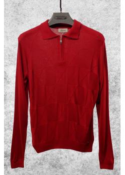 Классическая мужская кофта красного цвета