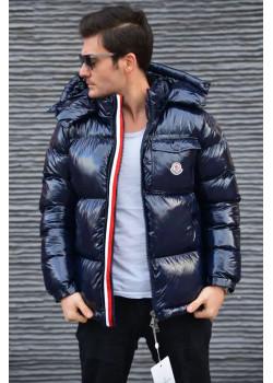 Мужская брендовая куртка тёмно-синего цвета