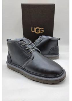 Мужские зимние ботинки UGG тёмно-серого цвета